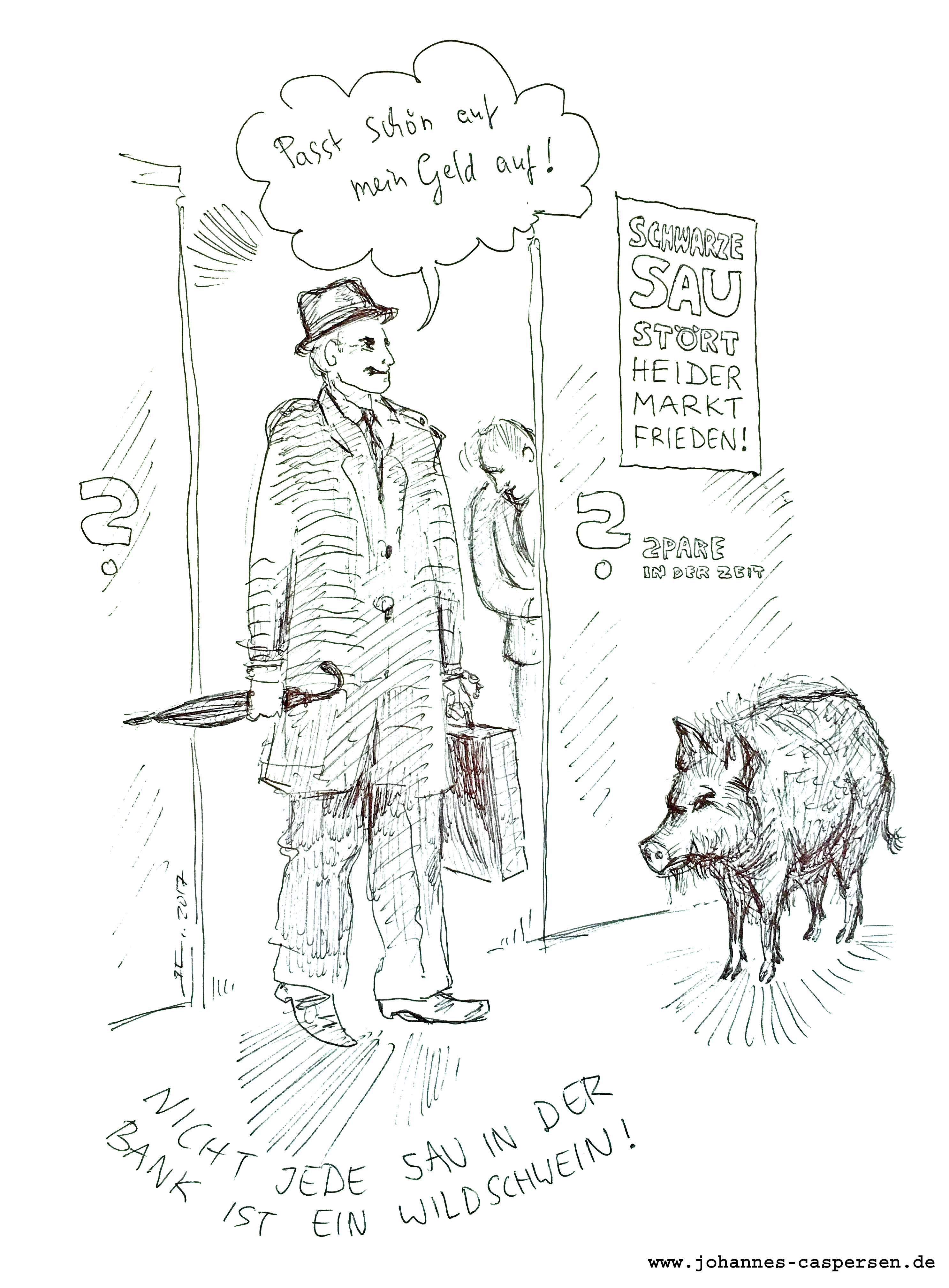 Wildschwein Jagd in Heide