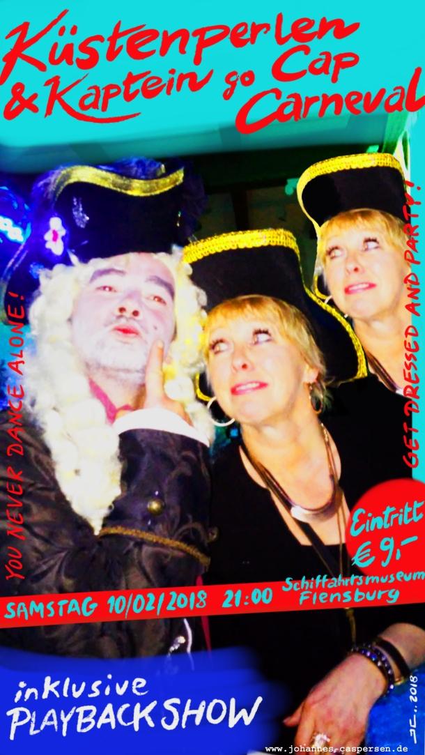 """Plakat """"Küstenperlen & Kaptein go Cap Carneval"""""""